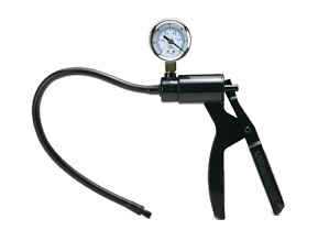 Deluxe hand pump with pressure gauge